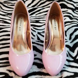 Lavender lilac platform round toe  stilettos